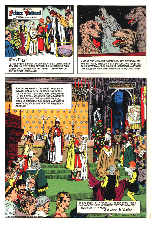 Prince Valiant - February 15, 1987 50th Anniversary page.