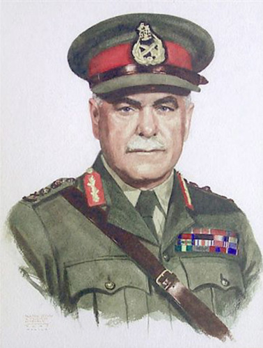 Painting of Field Marshal Sir Thomas Albert Blamey by John Cullen Murphy - circa 1945.