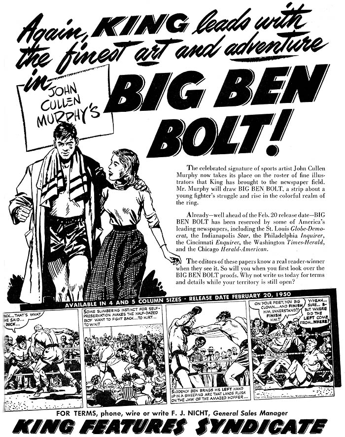 Big Ben Bolt promo piece.