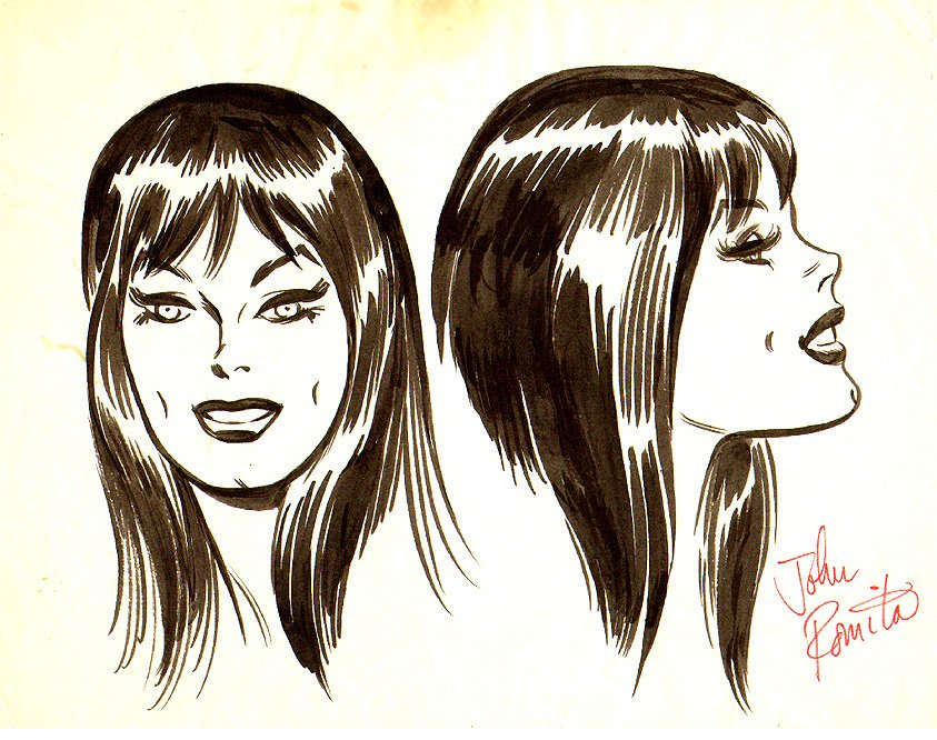 John Romita's model sheet for Mary Jane.
