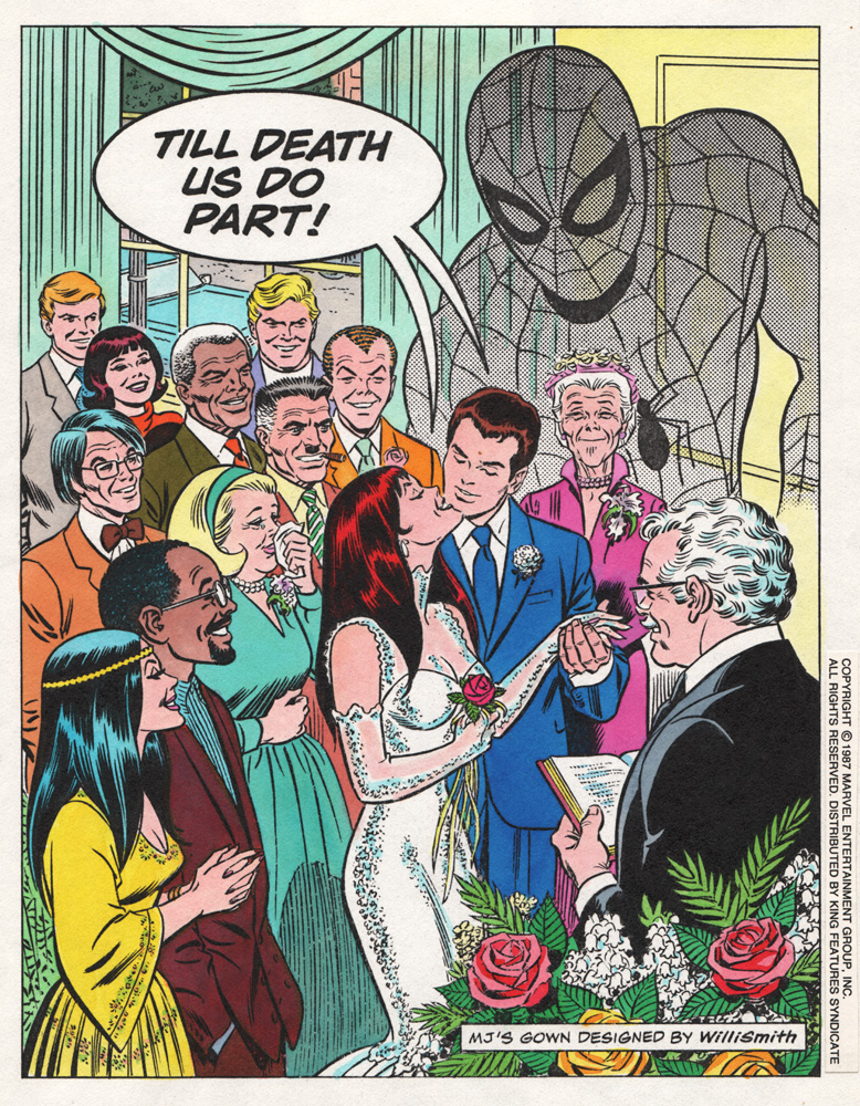 Promo piece done by Romita for Peter Parker and Mary Jane's wedding - 1987.