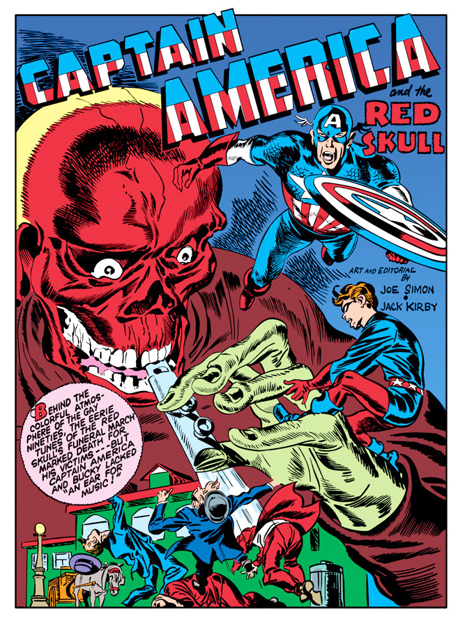 Splash page Captain America Comics #7 - October 1941