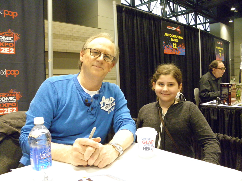 Peter Davison (the 5th Doctor) and my daughter Anna.