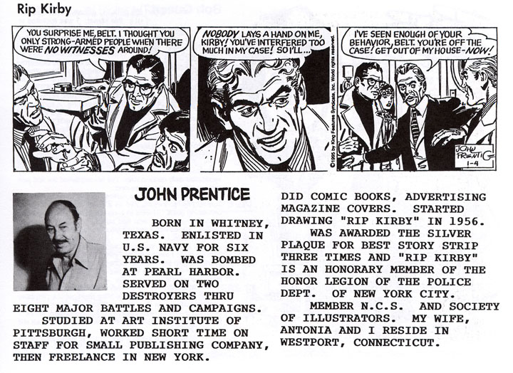 John Prentice bio from the National Cartoonist Society directory.