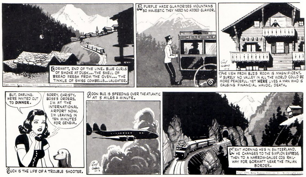 Panels from Buz Sawyer by Roy Crane