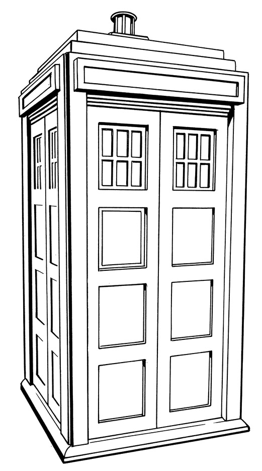 tardis coloring pages - photo#3
