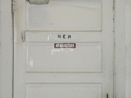 Room for men who don't solicit.