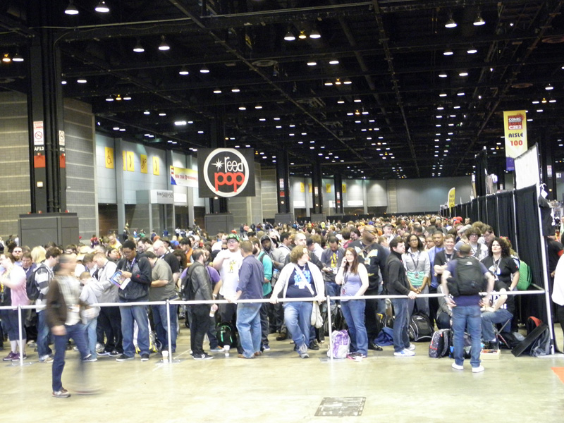 The queue waiting for C2E2 to open.