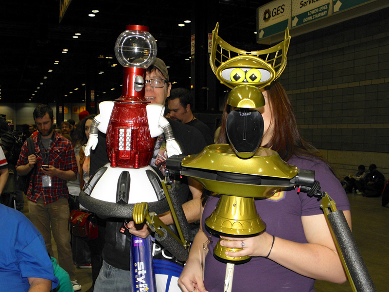 Tom Servo and Crow.