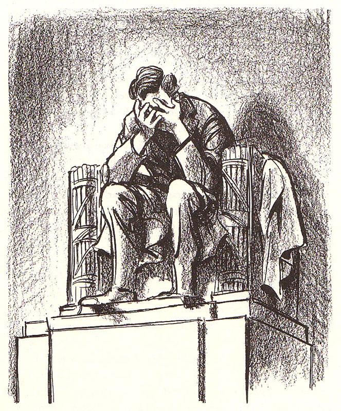 Bill Mauldin's editorial cartoon after President Kennedy was shot.