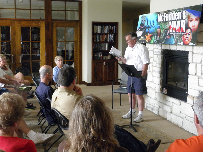 Wayne Morton reading an excerpt from McFadden's War.