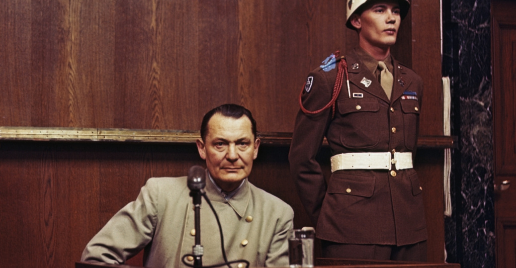 Hermann Goering at the Nuremberg Trials - 1946