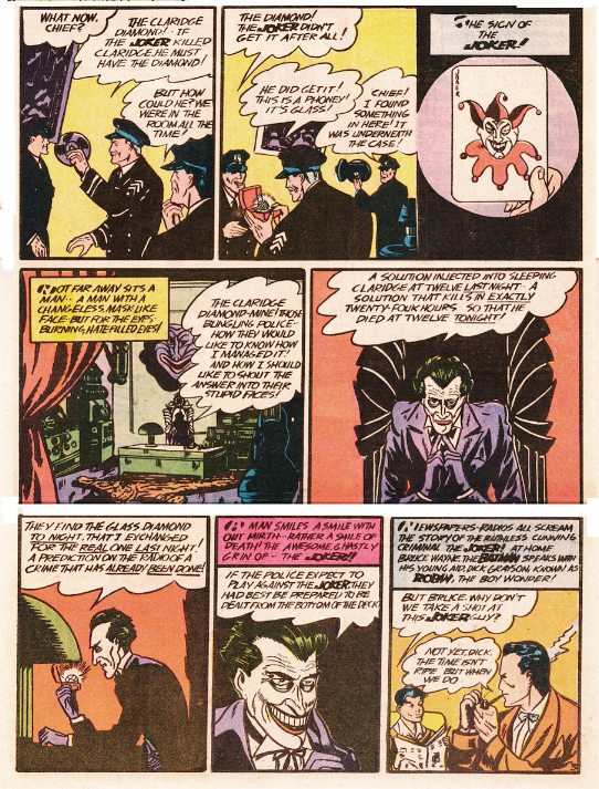 The Joker's first appearance from Batman #1.