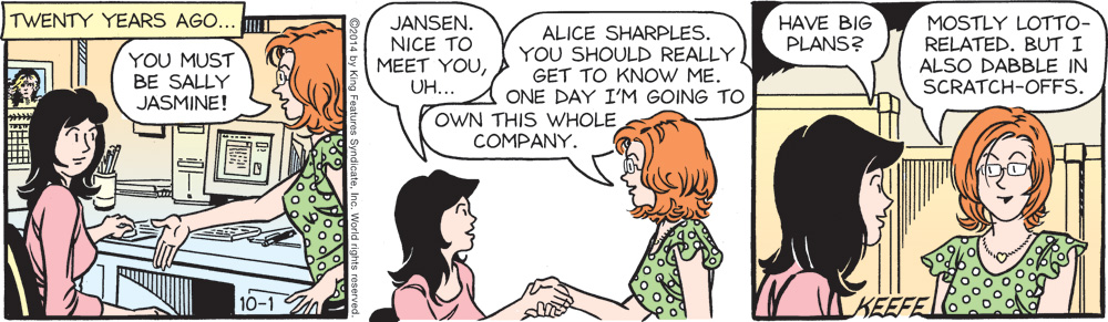Alice from the flashback strips.