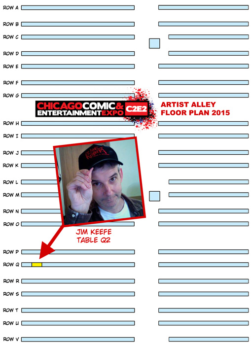 - Floor plan for C2E2's 2015 Artist Alley -