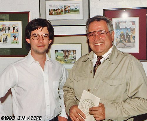 Fledgling artist, Jim Keefe,  with John Romita Sr. - May 1993