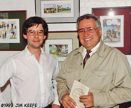 Fledgling artist, Jim Keefe,  with John Romita Sr. - May 1993