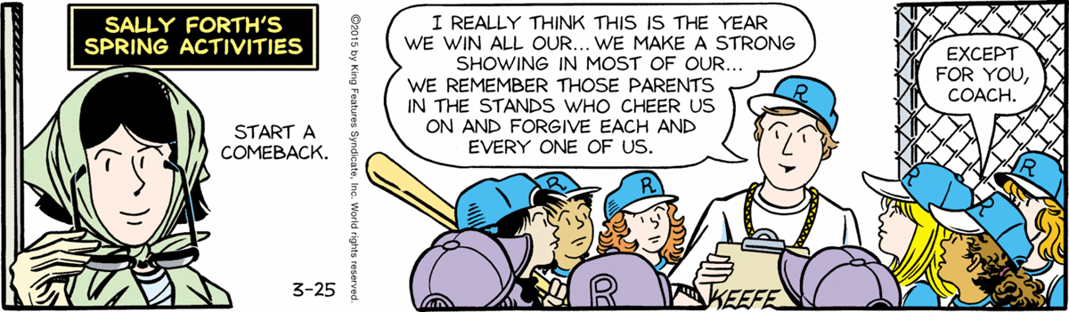 Sally Forth - March 25, 2015