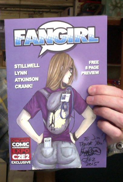 My preview copy  of Fangirl - signed by the artist!