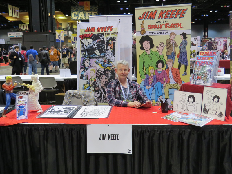 Me looking all serious at my table in Artist Alley.