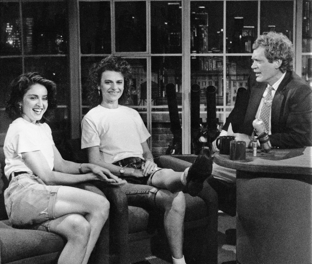 Madonna and Sandra Bernhard on Late Night with David Letterman - 1988