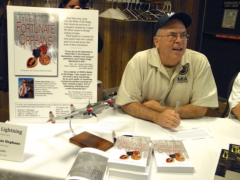 Craig MacIntosh at one of his book signings.