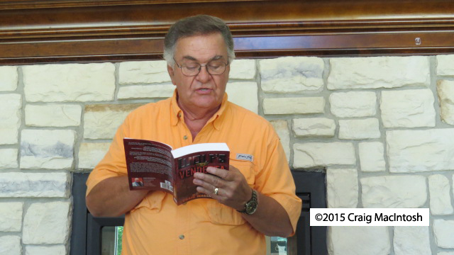 Actor Wayne Morton reading an excerpt from Wolf's Vendetta.