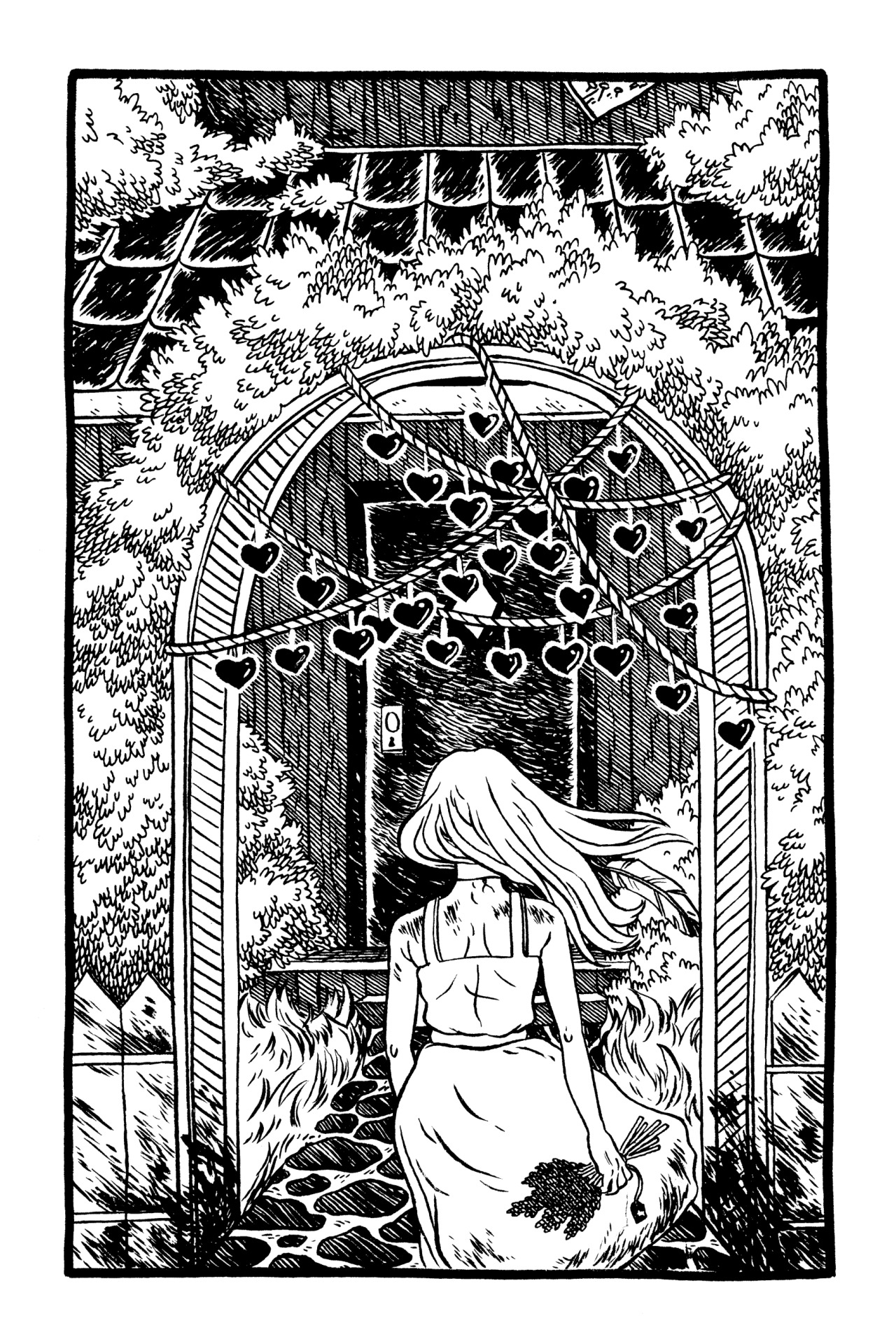 Illustration from Caitlin Skaalrud's Houses of the Holy.
