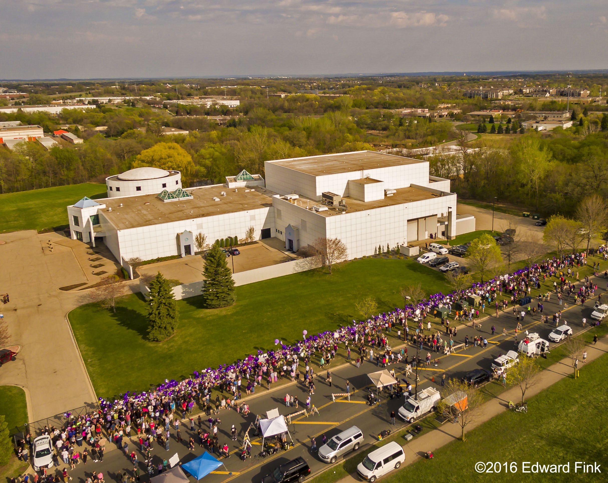 Aerial shot of Paisley Park.