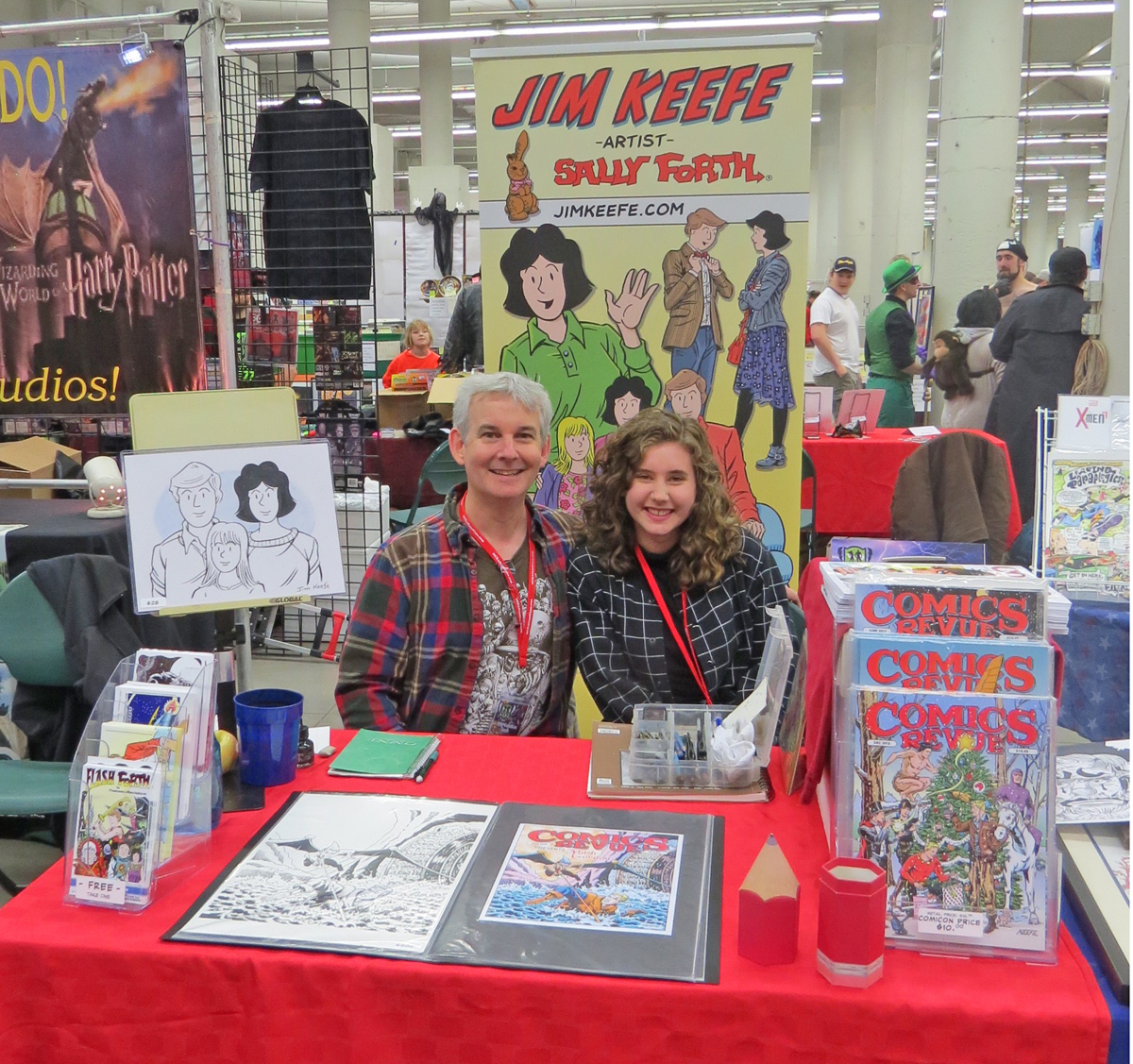 Tessa and I manning the booth.