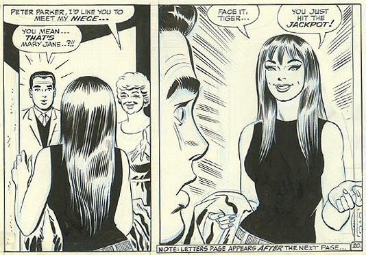 Mary Jane's first appearance. Amazing Spider-Man #42 – November 1966